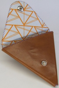 Geometric Triangles Wallet Lining