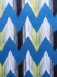 Ikat River Fabric Close Up