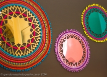Colourful mirrors by Charlotte Nash
