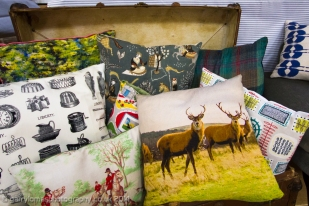 Whimsical cushions by Lomas & Lomas