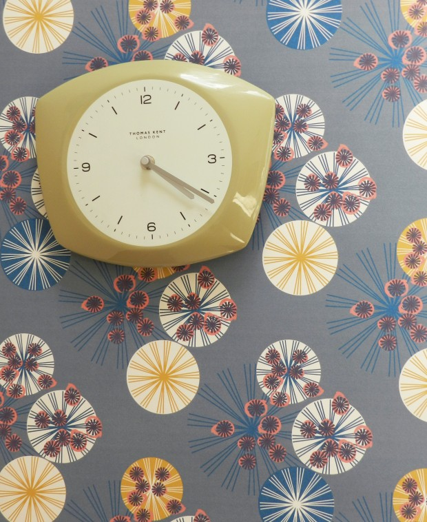 HEMLOCK MIDNIGHT WALLPAPER: CLOCK - ANNABEL PERRIN