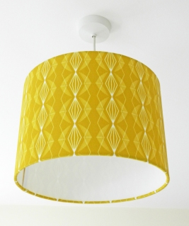 A Perrin Imperial Mustard Lampshade
