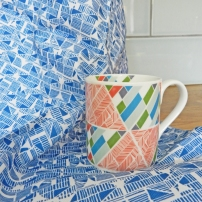 traingles mug & tea towel set