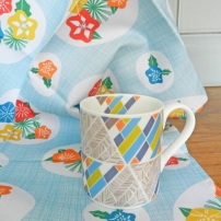floral mug & tea towel set