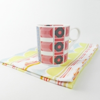 pastel mug & tea towels set